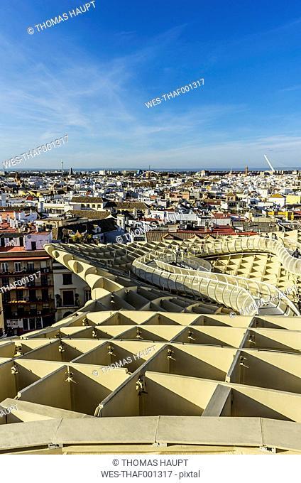 Spain, Andalusia, Sevilla, cityscape with Metropol Parasol