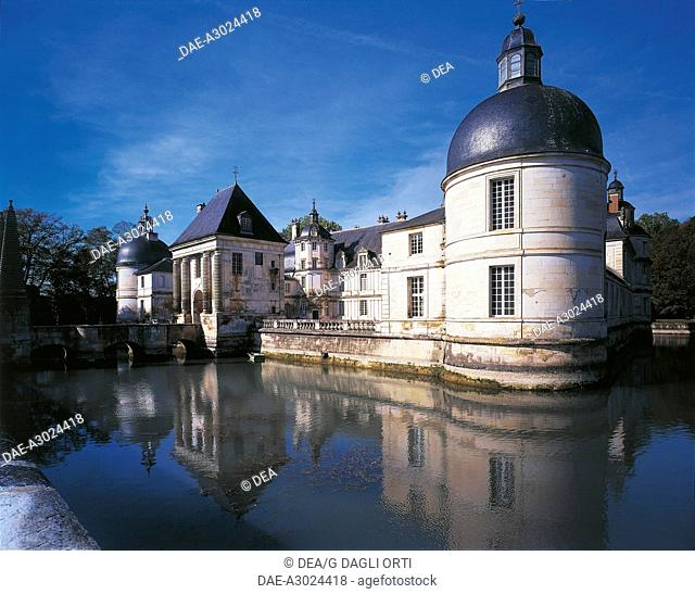 France - Burgundy - Tanlay. The castle, built by Pierre Le Muet during the 16th and 17th centuries