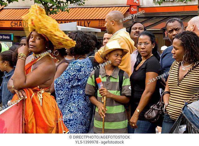 Paris, France, Public Events, Tropical Carnival Parade, Colorful Participants