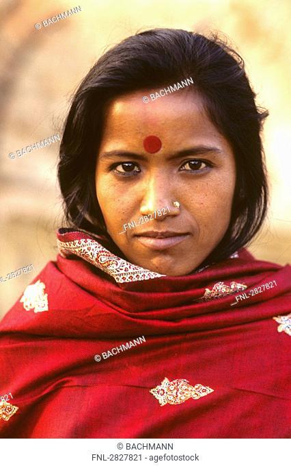 Portrait of an indian woman, Dehli, India