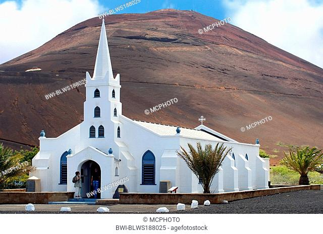 gothic church of Georgetown on Ascension Island at the African West Coast, Saint Helena, Ascension, Georgetown