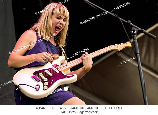 The Joy Formidable performs at Day One of Sloss Fest in Birmingham, Alabama