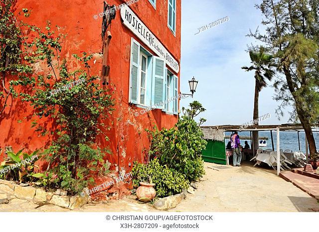 Chevalier de Boufflers inn, Ile de Goree (Goree Island), Dakar, Senegal, West Africa