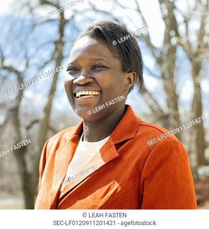 Portrait of middle aged woman smiling
