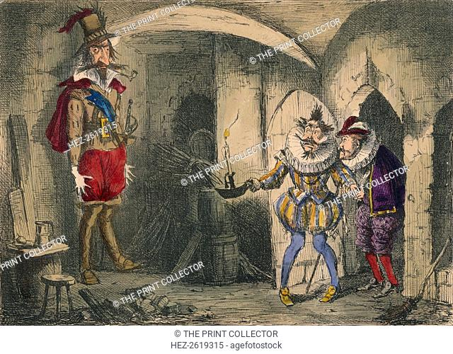Discovery of Guido Fawkes by Suffolk and Mounteagle, 1850. Artist: John Leech