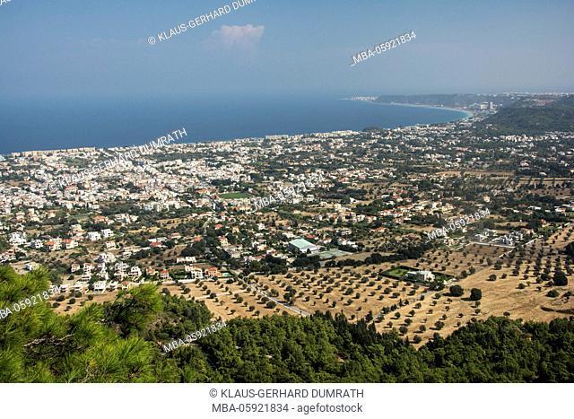 Rhodes, view to Ialyssos