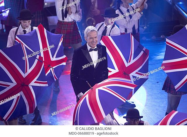 Italian host and singer Claudio Baglioni during the third evening of the 69th Sanremo Music Festival. Sanremo (Italy), February 7th, 2019