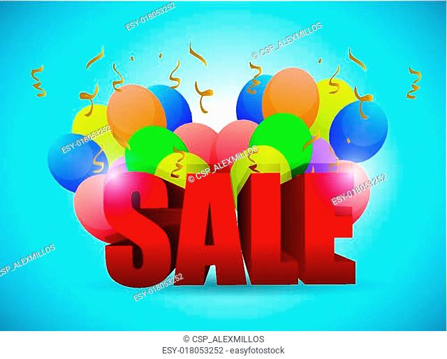 sale balloons illustration design