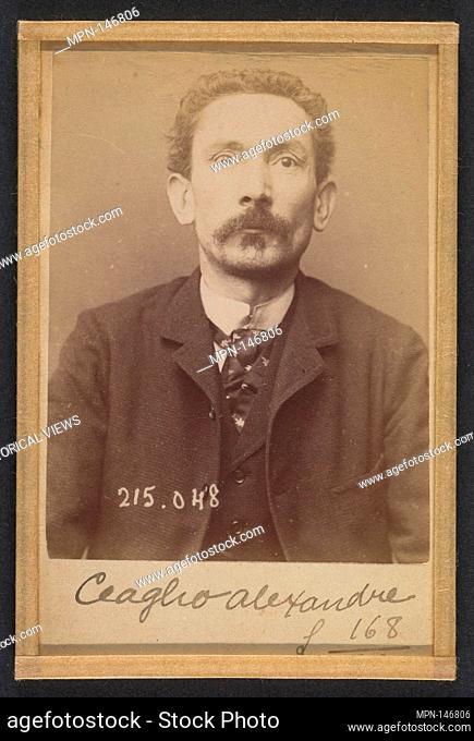 Ceaglio. Alexandre, Joseph. 42 ans, né à Turin (Italie). Employé de commerce. Anarchiste. 3/3/94. Artist: Alphonse Bertillon (French