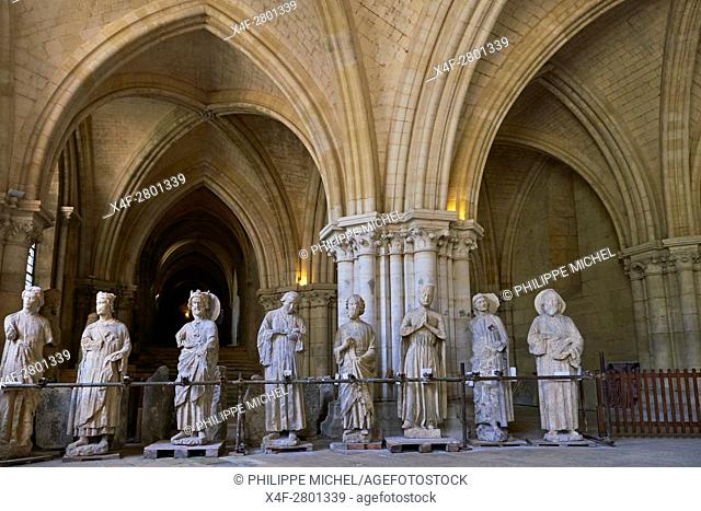France, Cher (18), Bourges, St Etienne cathedral, UNESCO world heritage, the crypt