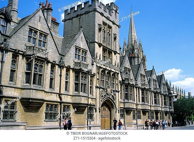 U K , Britain, England, Oxford, Brasenose College