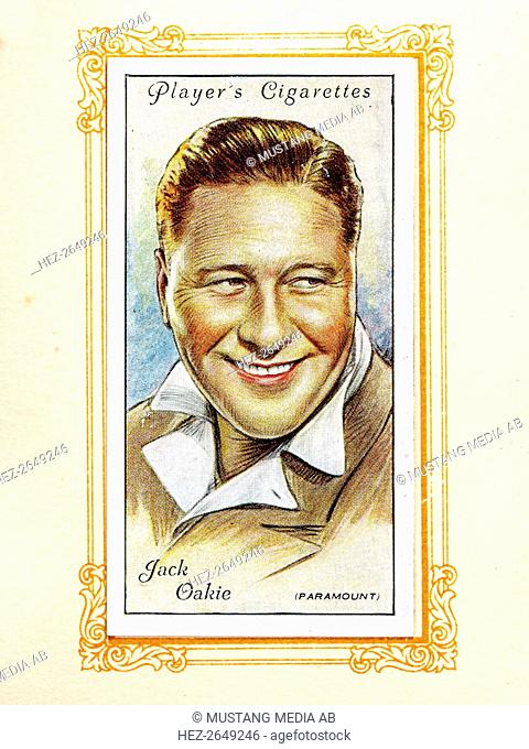Jack Oakie, 1934. Jack Oakie (November 12, 1903 - January 23, 1978) was an American actor, starring mostly in films, but also working on stage