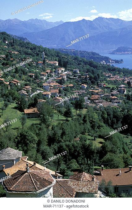 panorama and como lake, ossuccio, italy