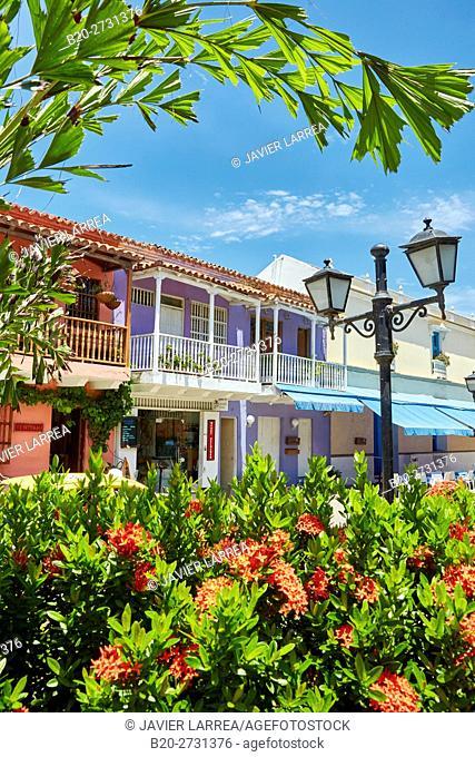 San Diego square, Colonial architecture, Cartagena de Indias, Bolivar, Colombia, South America