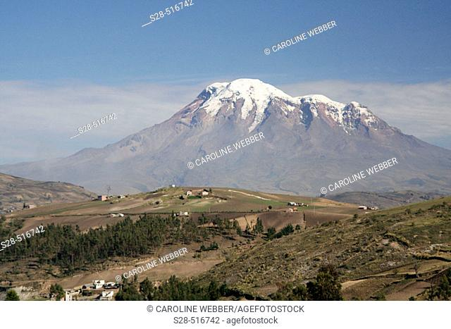 View of Chimborazo Volcano, Ecuador