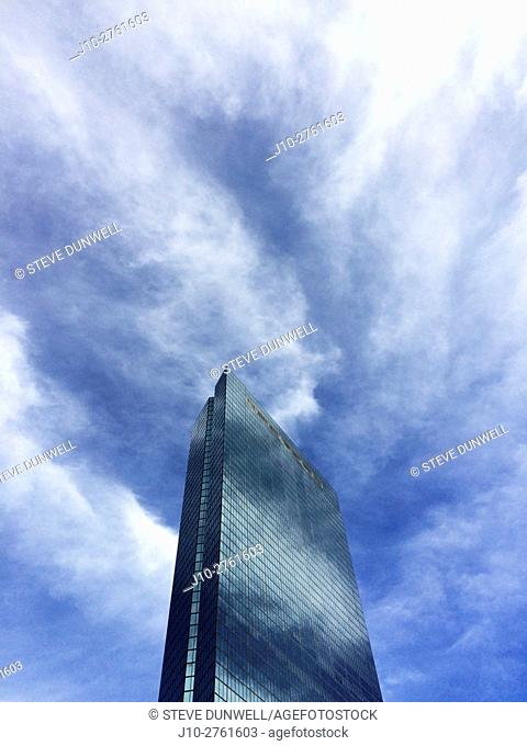 Electric clouds around the Hancock Tower, Boston, Massachusetts, USA