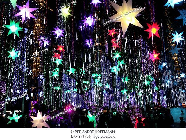 Christmas light show in Ayala Triangle, Makati, Manila, Luzon Island, Philippines