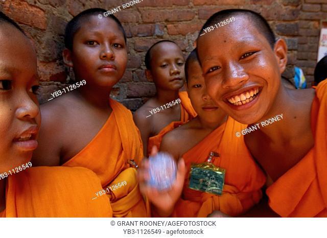Young Buddhist Monks , Wat Si Chum , Sukhothai , Thailand