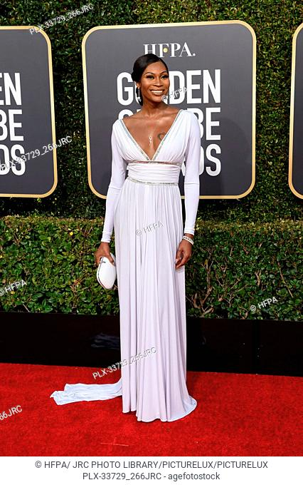 Dominique Jackson attends the 76th Annual Golden Globe Awards at the Beverly Hilton in Beverly Hills, CA on Sunday, January 6, 2019