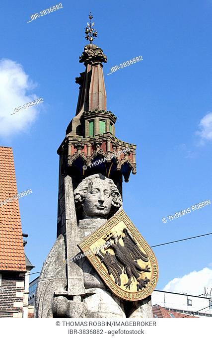 Bremen Roland, UNESCO World Cultural Heritage Site, Markt square, Bremen, Germany