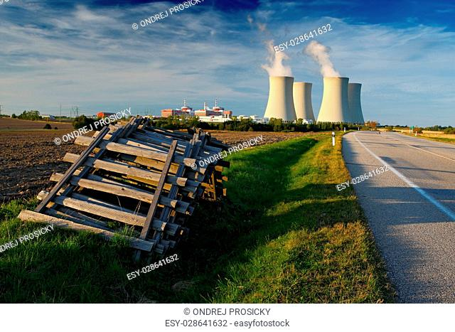 Nuclear power plant Temelin in Czech Republic, Europe