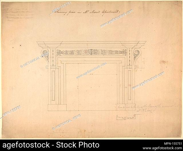 Design for a Chimneypiece for Somerset House, Strand, London. Artist: Sir William Chambers (British (born Sweden), Göteborg 1723-1796 London); Date: ca