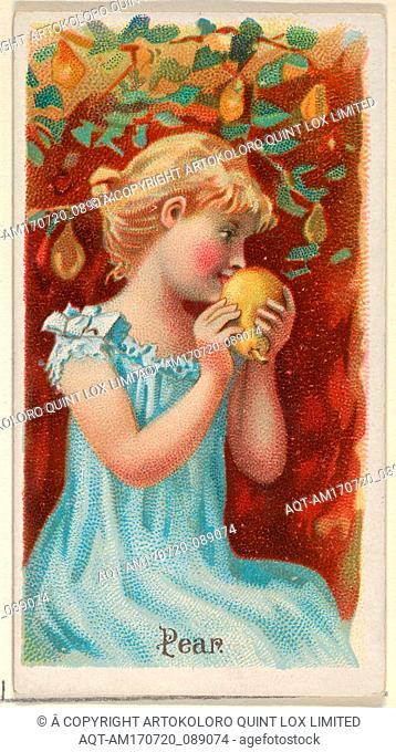Pear, from the Fruits series (N12) for Allen & Ginter Cigarettes Brands, 1891, Commercial color lithograph, Sheet: 2 3/4 x 1 1/2 in. (7 x 3
