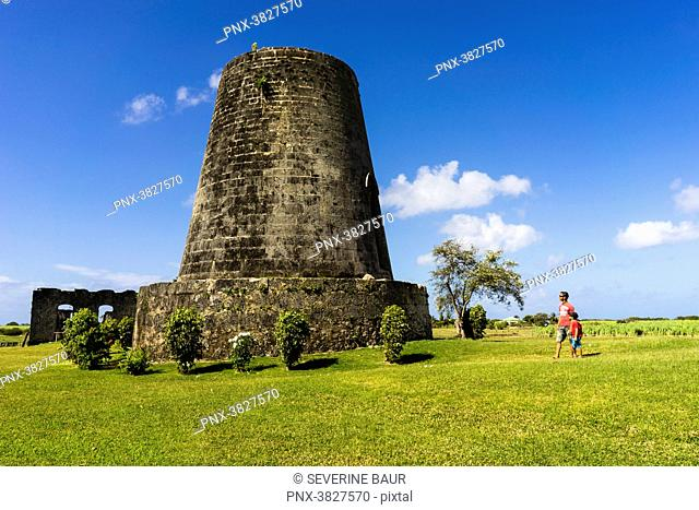 Roussel-Trianon habitation was a sugar cane habitation at the 17th century, listed as historical monument, Grand Bourg, Marie Galante