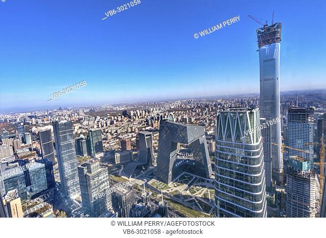 China World Trade Center Z15 Towers Skyscrapers CCTV Pants Building Guamao Centrall Business District Beijing China