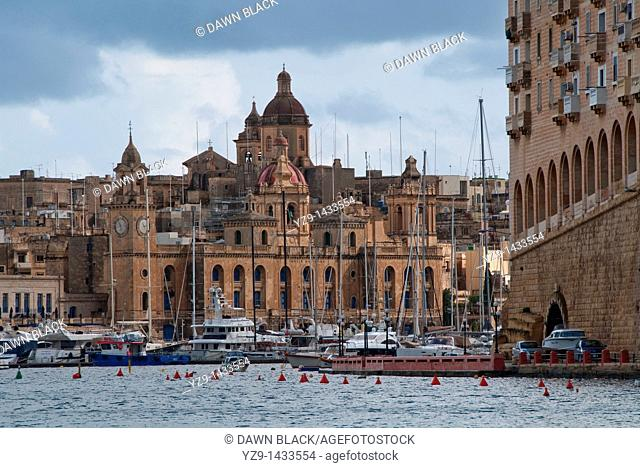 View of Vittoriosa and the National Maritime Museum from Dockyard Creek, Malta