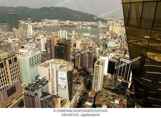 aerial view from Grand Lisboa hotel,Macau,Special Administrative Region,China,Asia