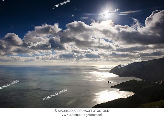 Arrabida mountain range. Arrabida Natural Park, Portugal