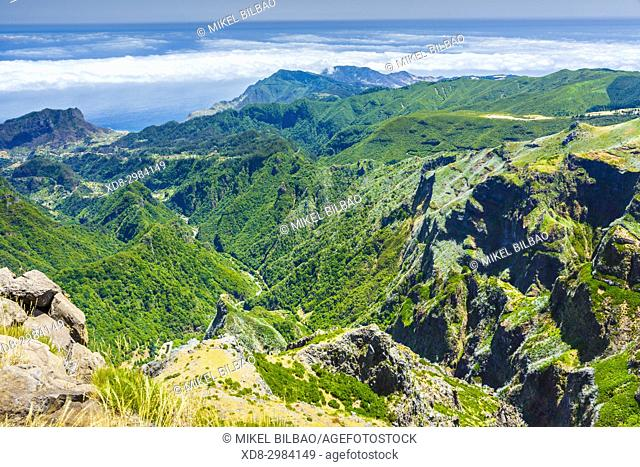 View from Pico do Arieiro. Madeira, Portugal, Europe