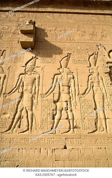 Exterior Reliefs, Temple of Hathor, Dendera, Egypt