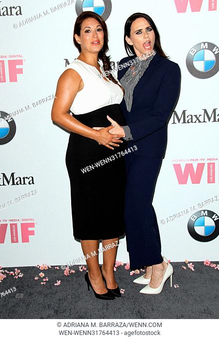 Women In Film 2017 Crystal and Lucy Awards held at The Beverly Hilton Hotel - Arrivals Featuring: Angelique Cabral, Amy Landecker Where: Los Angeles, California