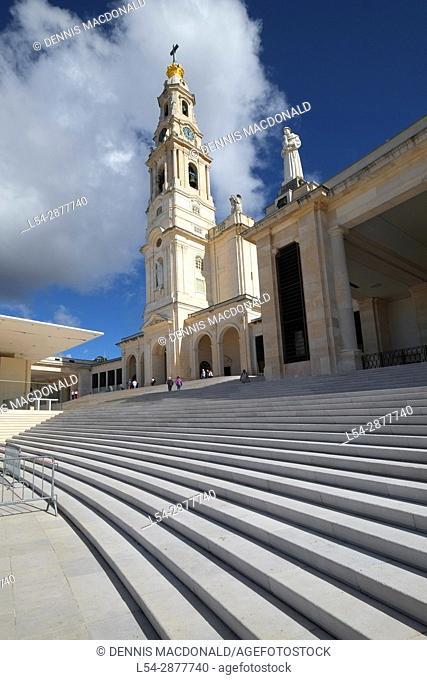Basilica Our Lady Fatima Portugal Catholic pilgrimage shrine Ourem