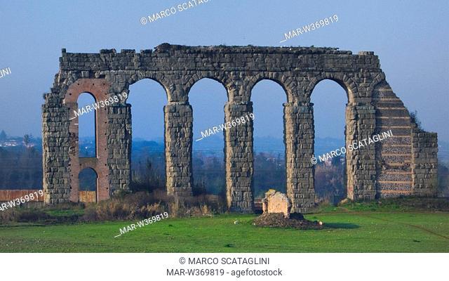roman aqueducts, rome, lazio, italy