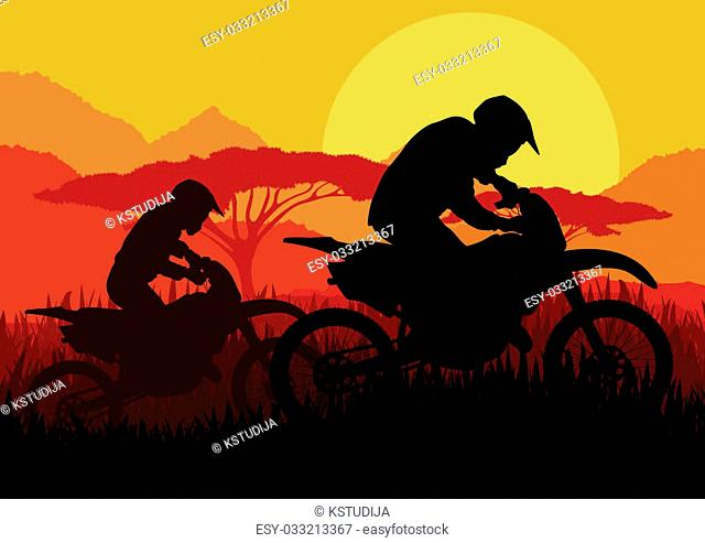 Motorbike rider motorcycle silhouette