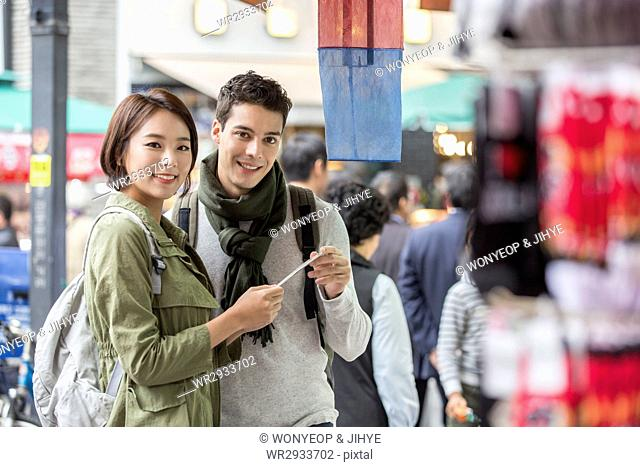Young smiling.couple having a date