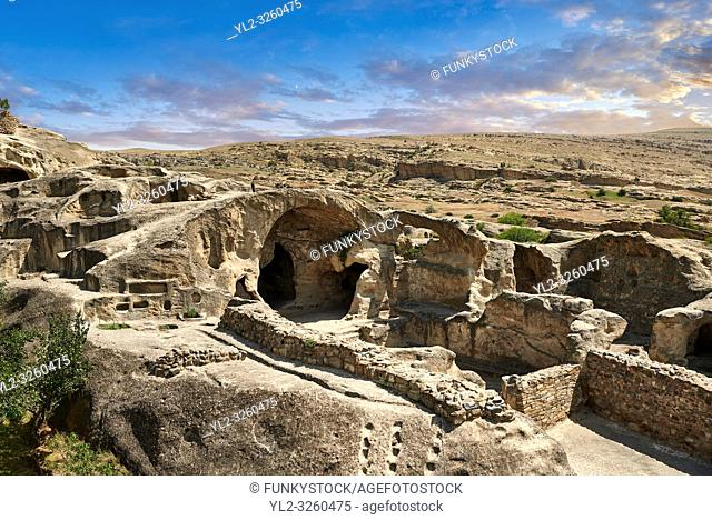 Picture & image of rock caves of Uplistsikhe (Lords Fortress) troglodyte cave city, near Gori, Shida Kartli, Georgia. UNESCO World Heritage Tentative List