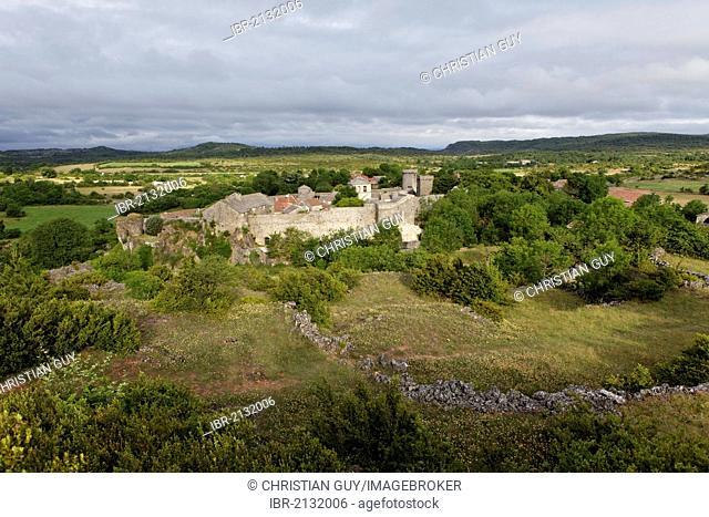 La Couvertoirade, labelled Les Plus Beaux Villages de France, The most beautiful villages of France, Causse du Larzac High Plateau