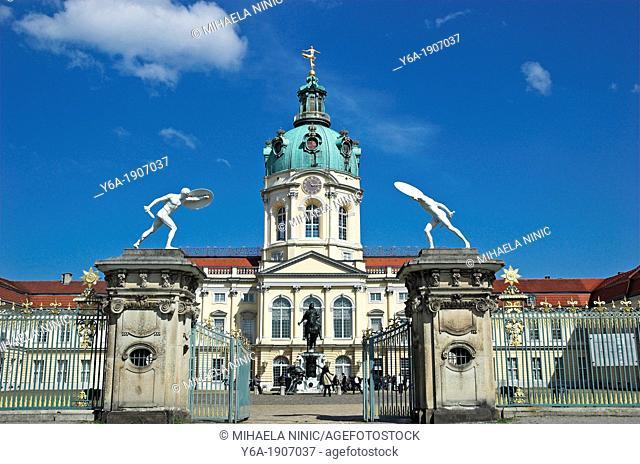 Charlottenburg Palace, entrance gate, Berlin Germany