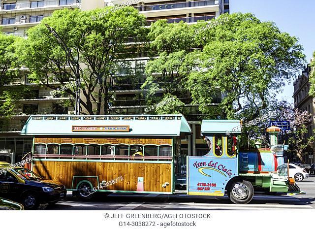 Argentina, Buenos Aires, Palermo, Avenida del Libertador, Tren del Cielo, sightseeing vehicle, Hispanic, Argentinean Argentinian Argentine South America...