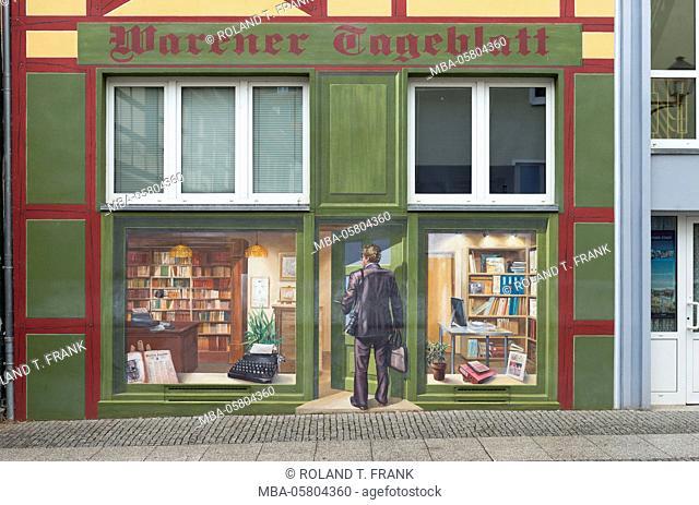 Germany, Mecklenburg-Western Pomerania, 'Waren an der Müritz', facade design in the 'Lange Strasse'