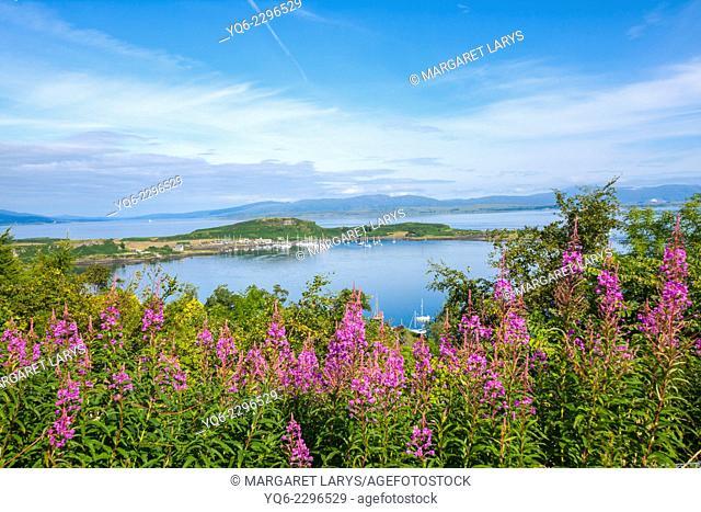 Oban seen from Druim Mor, Scotland, United kingdom