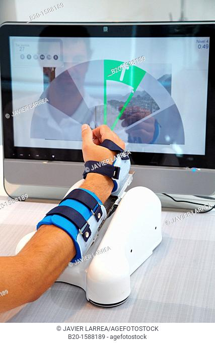 Assistive robot for upper limb rehabilitation at home  This device is particularly suitable for patients who have suffered a stroke and is also accompanied by a...