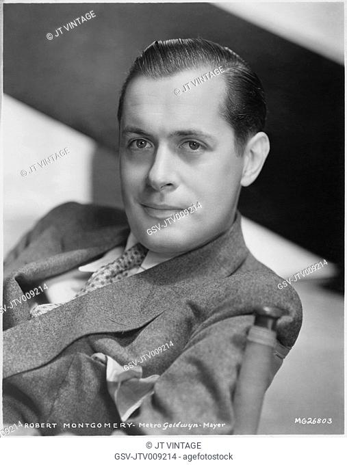 Robert Montgomery, Publicity Portrait for the Film, Night Must Fall, MGM, 1937