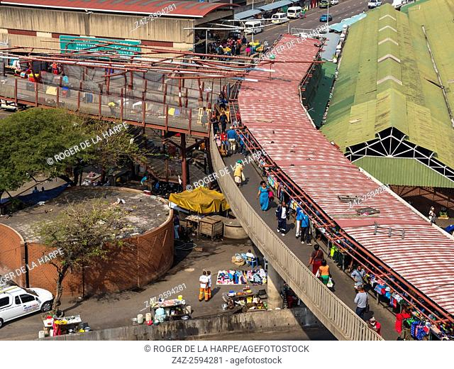 Street traders and Durban Market. Durban or eThekwini. KwaZulu Natal. South Africa
