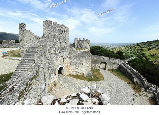 Castle, Albania, Albanian, architecture, Balkans, berat, berati, building, byzantine, citadel, city, culture, Europe, European, fortress, heritage, historic