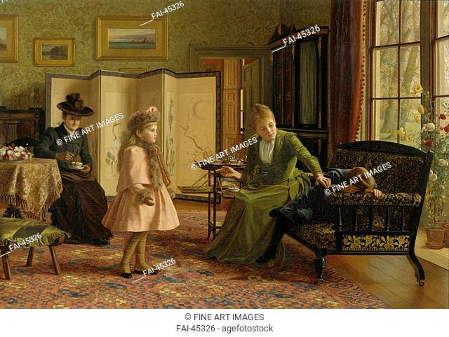 Genre painting girl Stock Photos and Images | age fotostock